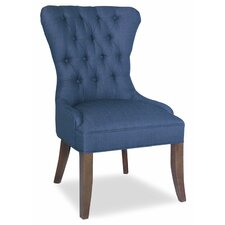 Marsh Genuine Leather Upholstered Dining Chair by Darby Home Co