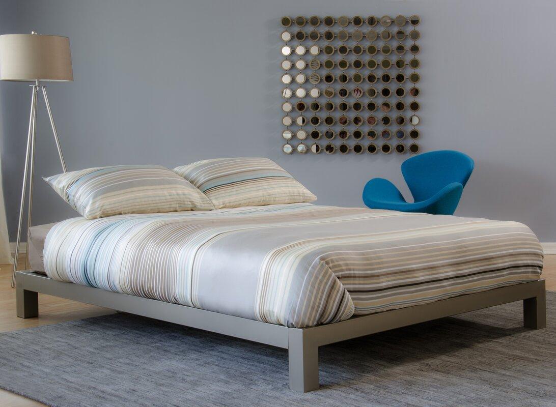 modern metal beds  allmodern - giacinto platform bed