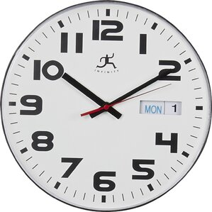 """11"""" Day & Date Wall Clock"""