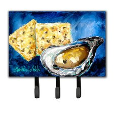 Oysters Two Crackers Leash Holder and Key Hook by Caroline's Treasures
