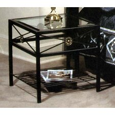 Neoclassic Glass End Table by Grace Collection