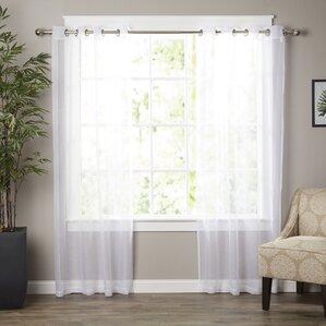 Good Wayfair Basics Solid Sheer Grommet Curtain Panels (Set Of 2)