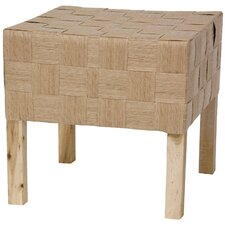 Woven Fiber Stool by Oriental Furniture