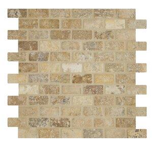 Tumbled Tuscany Mesh Mounted 12 X Natural Stone Mosaic Tile