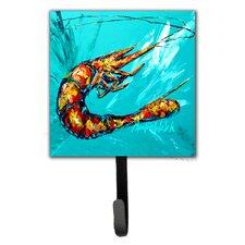 Shrimp Splish Splash Leash Holder and Key Hook by Caroline's Treasures