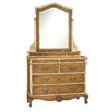 Lilles 9 Drawer Dresser with Mirror by French Heritage