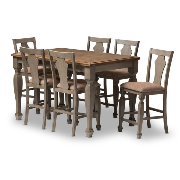 martina 7-piece counter height dining set & reviews | joss & main