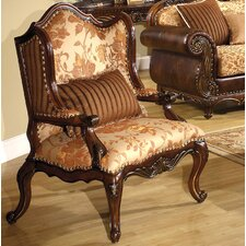 Bonded Fabric Wing back Chair by A&J Homes Studio