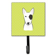 Checkerboard Bull Terrier Leash Holder and Wall Hook by Caroline's Treasures