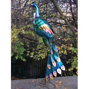 Vivid Metal Peacock Statue