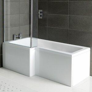 Robert 150cm x 85cm Shower Bath Soaking Bathtub