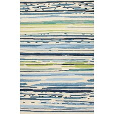 Pierpont Blue/Green Abstract Indoor/Outdoor Area Rug