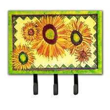 Sunflower Flower Key Holder by Caroline's Treasures