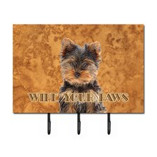 Yorkie Puppy/Yorkshire Terrier Wipe Your Paws Leash Holder and Key Hook by Caroline's Treasures