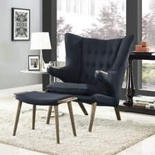 Bear Lounge Chair and Ottoman Set by Modway
