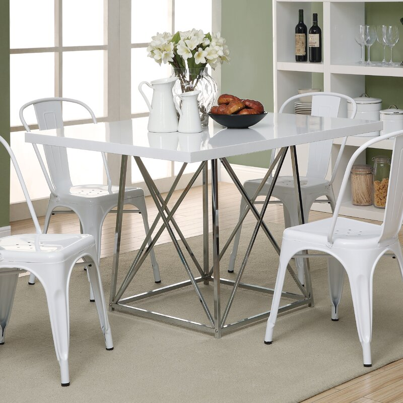 monarch specialties inc. kenton dining table & reviews | wayfair