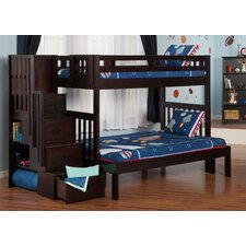 Margaret Twin Over Full Bunk Bed with Staircase by Viv + Rae