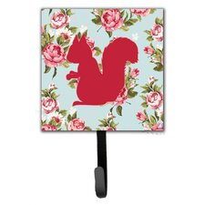 Squirrel Shabby Elegance Roses Wall Hook by Caroline's Treasures