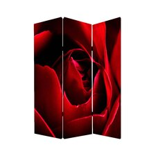 72 x 48 Rose 3 Panel Room Divider by Screen Gems