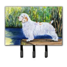 Clumber Spaniel Wall Hook by Caroline's Treasures