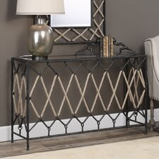 Breana Spruce Knob Console Table by 17 Stories