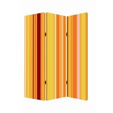 72 x 48 Deep Saffron 3 Panel Room Divider by Screen Gems