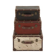 3 Piece Wooden Trunk Set by Cole & Grey