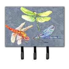 Dragonfly Times Three Leash Holder and Key Hook by Caroline's Treasures