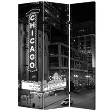 72 x 48 Chicago 3 Panel Room Divider by Screen Gems