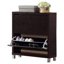 Baxton Studio Simms 12-Pair Shoe Storage Cabinet