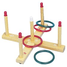 Ring Toss Set with 5 Pegs & 4 Rings