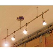 Monorail 4-Light Straight Full Track Lighting Kit