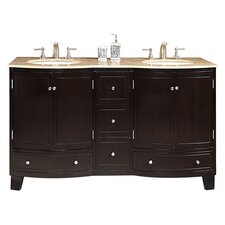 Naomi 60 Double Bathroom Vanity Set by Silkroad Exclusive