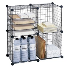 Wire Cube Shelving System 5 Cube Unit Bookcase by Safco Products Company