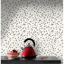 "Contour Checker 33' x 20.5"" Geometric 3D Embossed Wallpaper"