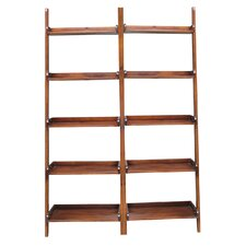 "76"" Leaning Bookcase (Set of 2)"