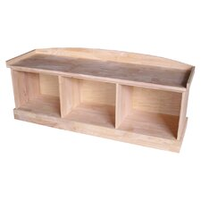 Wood Storage Bench by International Concepts
