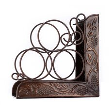 Antique Heritage Embossed 3 Bottle Tabletop Wine Rack by Old Dutch International
