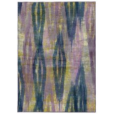 Prismatic Abstract Purple/Blue Area Rug