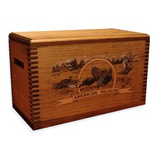 """Wooden Accessory Box With """"Wildlife Series"""" Turkey Print"""