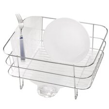 Compact Wire Frame Dish Rack in Stainless Steel