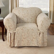 Scroll Classic Armchair Skirted Slipcover  by Sure Fit