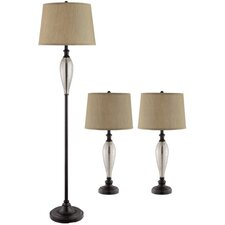 Burleigh 3 Piece Table and Floor Lamp Set