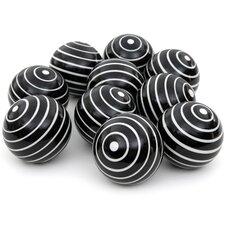 Stripes Decorative Ball Sculpture (Set of 10)