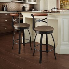 "Library Luxe Style 25.75"" Swivel Bar Stool"