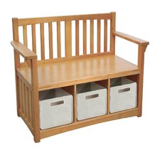 New Mission Wood Storage Entryway Bench by Guidecraft