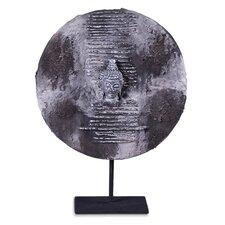 Lava Stone Buddha Head Plaque Figurine