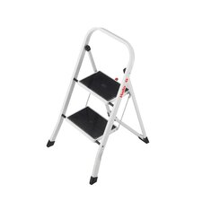 2-Step Steel Step Stool with 330 lb. Load Capacity