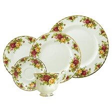 Old Country Roses Bone China 5 Piece Place Setting, Service for 1
