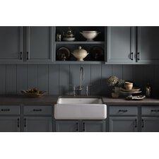 "Whitehaven 29.69"" x 21.69"" Farmhouse Single Bowl Kitchen Sink"